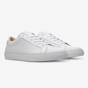 Clothing, Shoes & Accessories Greats The Royale Women's Size 7 White Perforated Sneakers Worn Once $189